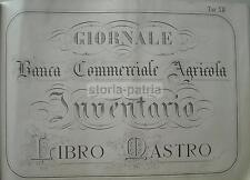 SCRITTURA_CALLIGRAFIA_ECONOMIA_BANCA COMMERCIALE AGRICOLA_LIBRO MASTRO_D'EPOCA