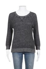 AQUA CASHMERE Sweater Top Small 100% Cashmere Heather Gray Knit Long Sleeve