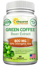 aSquared Nutrition Green Coffee Bean Extract - 180 Capsules - 100% Pure Natural