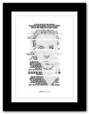 More details for ❤ coldplay viva la vida ❤ song lyrics poster art edition typography print #23