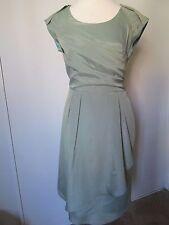 Mikarose Green Pleated Bust Side Zip Lined Knee Length Sheath Dress NWOT SZ: L