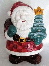 "SANTA CHRISTMAS COOKIE JAR - 11"" TALL x 8"" WIDE"