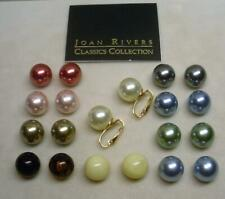NEW JOAN RIVERS GOLD EP INTERCHANGEABLE MULTI COLOR PEARL CLIP EARRING C
