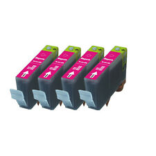 4 MAGENTA Premium Ink + Chip for Canon Series CLI-221 iP4600 iP4700 MP560 MP620