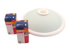 Deckenlampe mit Bewegungsmelder Sensor, Deckenleuchte mit 2 x LED OSRAM Leuchte