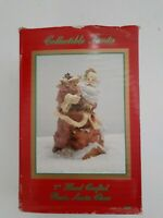 """Vintage 1993 THC  Hand Crafted 7"""" Tall Resin Santa Claus in Original Box"""