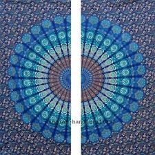 Hippie Sheer Bohemian Cotton Window, Door Mandala Curtain Valances Panel