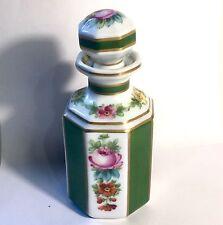 Ancien Flacon Parfum Porcelaine De Sèvres  Décors De Rose