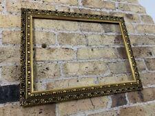 Vintage Ornate Auricular Moulded Detail Gold Gilt Picture Frame, Medium