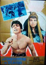 CONQUEROR OF ATLANTIS Italian 1F movie poster KIRK MORRIS 1965 PEPLUM