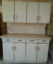 Cucina vintage anni 60 legno bianco e piano marmo modernariato