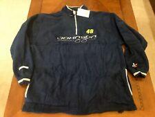 VINTAGE NASCAR JIMMIE JOHNSON #48 Fashion Fleece Sweatshirt Jacket Chase XL New