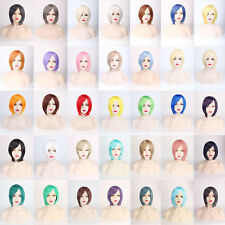 BOB thick Short Straight Costume Cosplay Anime party Wig heat resistant EPA6