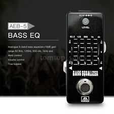 AROMA 5-Band Graphic EQ Bass Guitar Equalizer Effect Pedal True Bypass US W1C0