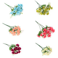 15Head Real Latex Touch Rose Flowers For wedding And Home Design Bouquet Decor D
