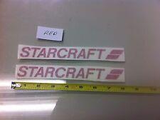 "x2 Starcraft RED 8"" vinyl sticker decal - boat fishing camping truck lake"