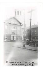 C79/ Cambridge Massachusetts Ma RPPC Postcard c50s Middlesex County Court House