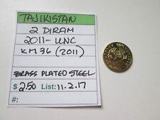 TAJIKISTAN,   2 diram,    2011 UNC,    KM 36 (2011)