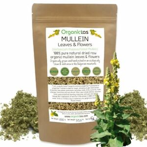 Mullein Leaf for Lung Health, Antibacterial Antiviral Action Dried Cut Herbal Te