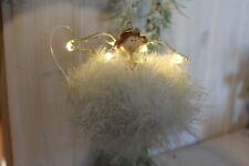 LED Engel Hänger creme/weiß Engelfigur Weihnachtsfigur Fensterdeko Hängedeko