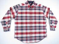 NWOT Vintage 90s Tommy Hilfiger Multi Color Plaid Long Sleeve Lion Crest Shirt L