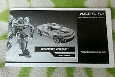 Transformers HFTD BUMBLEBEE VS. THRUST INSTRUCTION BOOKLET ONLY MINT