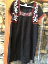 Old Navy Black Dress with Embroidery across the top Size Small