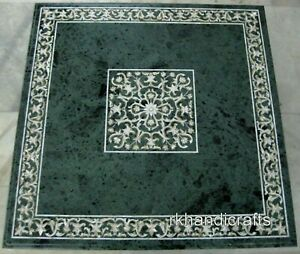 36 Inches Marble Dining Table Hand Inlaid Office Meeting table with Elegant Work