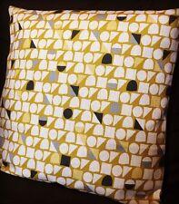 ANY 4 £40 Yellow Grey Geometric Cushion Cover 18'' Mustard Triangles Circles