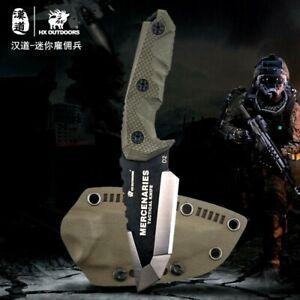 Mini Tactical Knife Anti Terrorism counter strike Green Fixed Blade Combat Green
