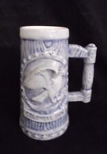 Colonial Inn Tall Tankard, Eagle & Stars in Blue and White, 1980