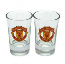 MANCHESTER UNITED FC 2pk Shot Glass Set Birthday Christmas Fathers Man Utd Gift