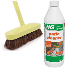 HG Path and Patio Cleaner Kit Includes 1 Litre Cleaner with Deck Scrubbing Brush