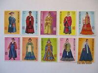 Korea Südkorea Hofkleidung 1973, alle 10 Werte postfrisch komplett (70498)