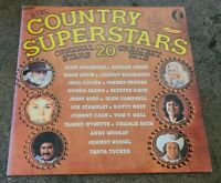 Rare K-tel COUNTRY SUPERSTARS Vinyl LP Tammy Wynette TANYA TUCKER Ktel VG+