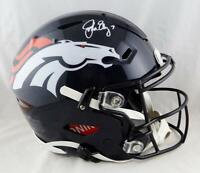 John Elway Autographed Denver Broncos F/S SpeedFlex Helmet - Beckett Auth *White
