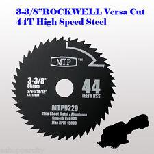 "HSS 3-3/8"" inch Mix Wood & Metal Circular Saw Blade for ROCKWELL VersaCut Nextec"