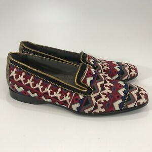 Donald J Pliner Womens Embroidered Flats Loafers Size 6