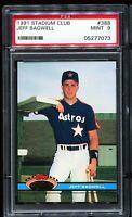 1991 Stadium Club #388 JEFF BAGWELL Houston Astros RC ROOKIE PSA 9 MINT
