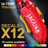 Compatible JAGUAR XE XF XJ HI-TEMP PREMIUM BRAKE CALIPER DECALS STICKERS CAST