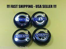 BLUE CHROME WHEEL RIM CENTER LOGO HUB CAP EMBLEM FIT VOLVO  64mm XC90-S60-S40 ++