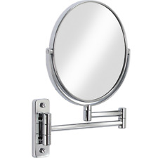 Double Sided Swivel Mirror 5x Magnifying Wall Mount Extendable Bathroom Vanity