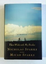 Three Weeks with My Brother SIGNED Nicholas Sparks (2004, Hardcover) 2nd Print