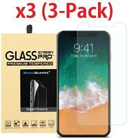 3-Pack Premium Real Tempered Glass Film Screen Protector for Apple iPhone X / XS