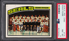 1976 OPC O PEE CHEE#135 California Golden Seals TEAM CARD PSA 8 NM-MINT UNMARKED