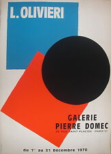 Olivieri Affiche sérigraphie 1970 art abstrait abstraction Paris Galerie Domec