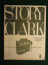 Story & Clark Organ 75 75R Service Manual Schematics Parts List Keyboard 75 R