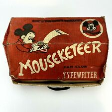 Mickey Mouse Club Mouseketeer Typewriter 1950s Vintage Working With Box Disney