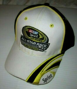 Nascar Sprint Cup Series All Star Race 5/21/11 Hat (White/Black/Yellow)