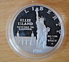 1986 S Proof Silver  Ellis Island $1 Commemorative Coin  in Hard Shell (C34)